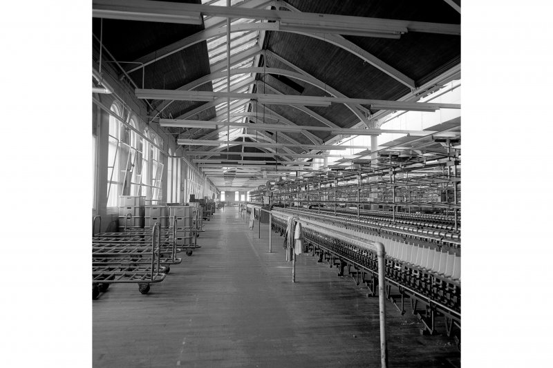 Paisley, Ferguslie Thread Mills, Mill No.1, 5th Flat; Interior View from WNW along N side of building
