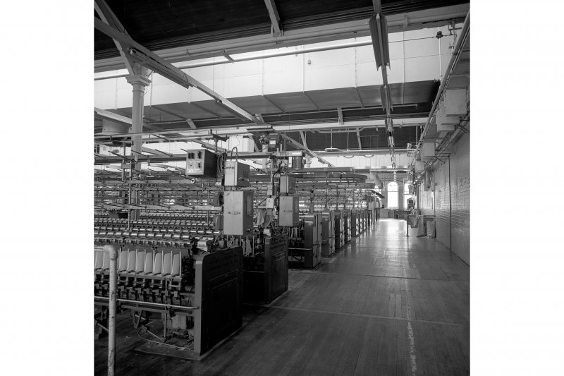 Paisley, Ferguslie Thread Mills, Mill No.1, 5th Flat; Interior View from W end of flat, looking SW
