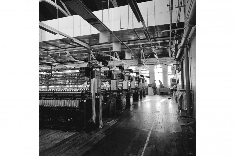 Paisley, Ferguslie Thread Mills, Mill No.1, 5th Flat; Interior View from W end of flat, looking SSW