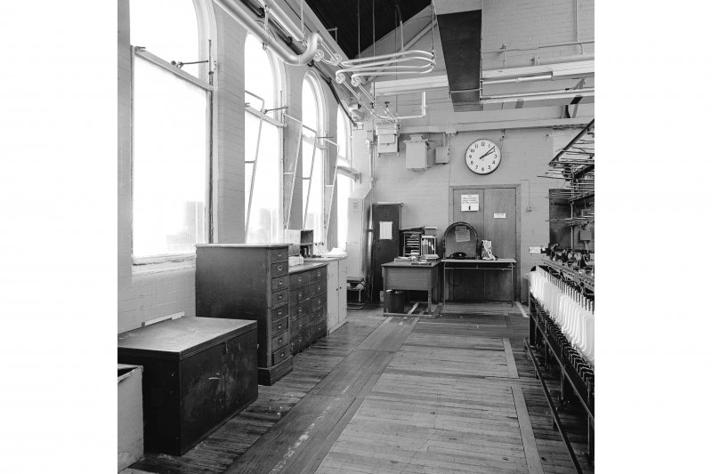 Paisley, Ferguslie Thread Mills, Mill No.1, 5th Flat; Interior View of W corner of 5th flat
