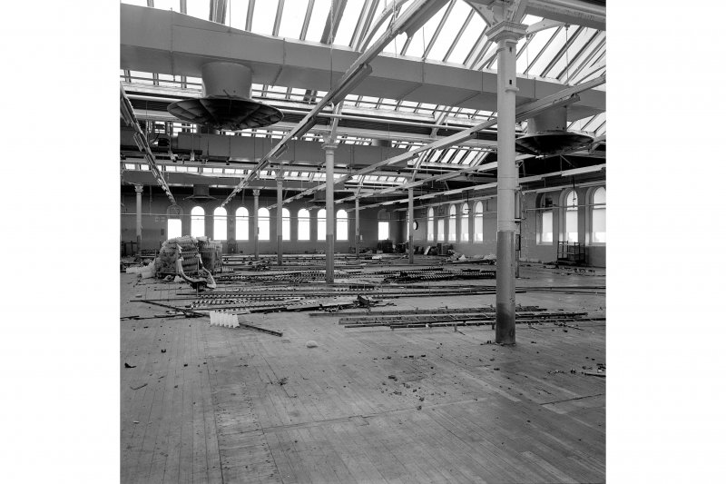 Paisley, Ferguslie Thread Mills, Mill No.1, 5th Flat; Interior Looking NE from E end of 5th flat