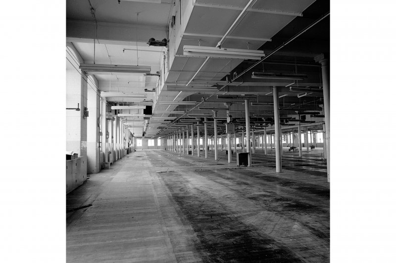 Paisley, Ferguslie Thread Mills, Mill No.1, 4th Flat; Interior General view, looking SE