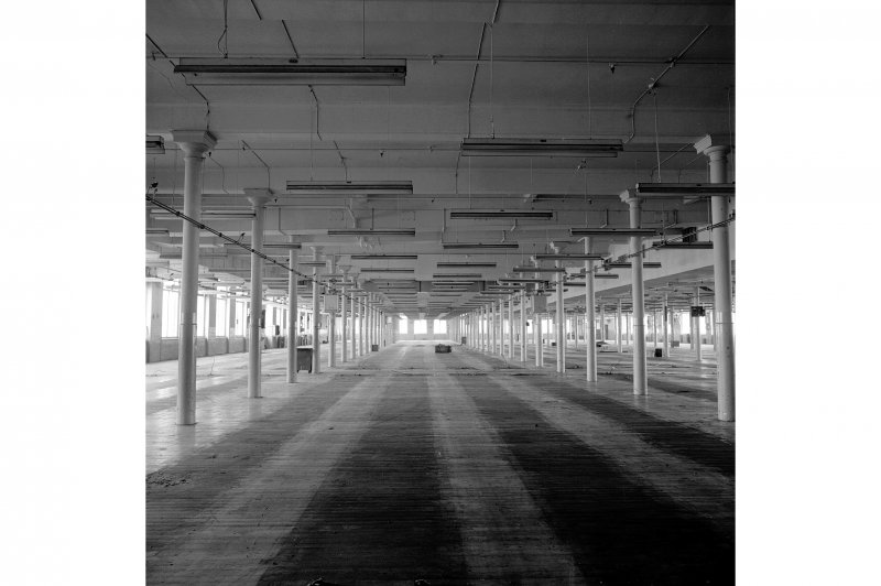 Paisley, Ferguslie Thread Mills, Mill No.1, 4th Flat; Interior View of 4th flat, looking ESE