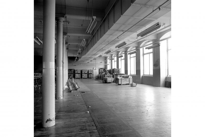 Paisley, Ferguslie Thread Mills, Mill No.1, 2nd Flat; Interior Looking NW towards N corner of flat