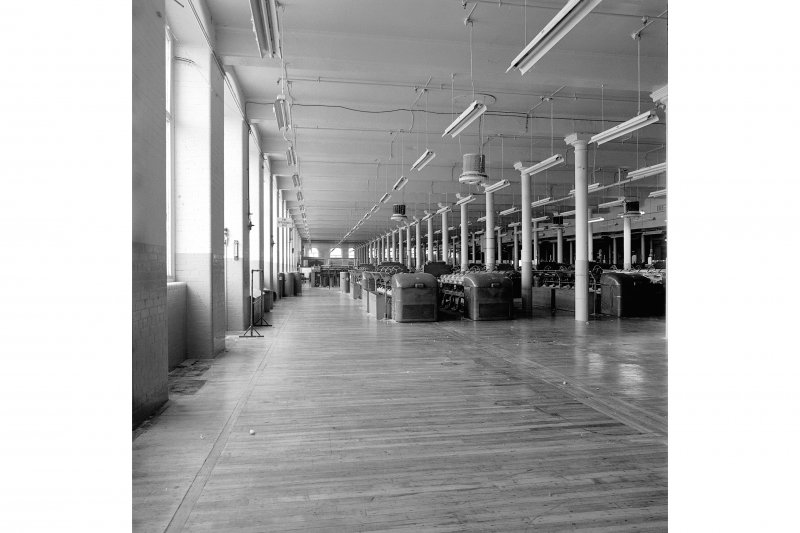 Paisley, Ferguslie Thread Mills, Mill No.1, 1st Flat; Interior Looking ESE along N side of flat