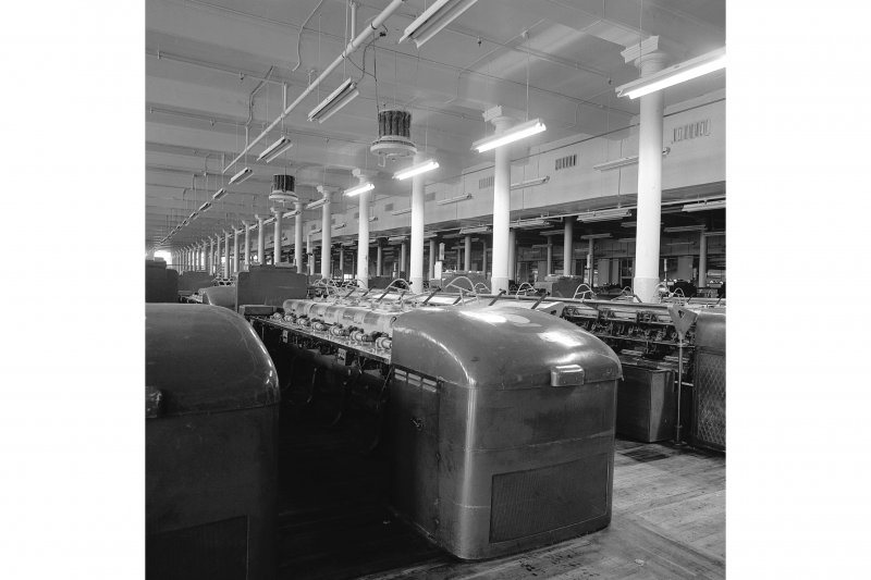 Paisley, Ferguslie Thread Mills, Mill No.1, 5th Flat; Interior Looking SE of 1sr flat, view of drawing machines