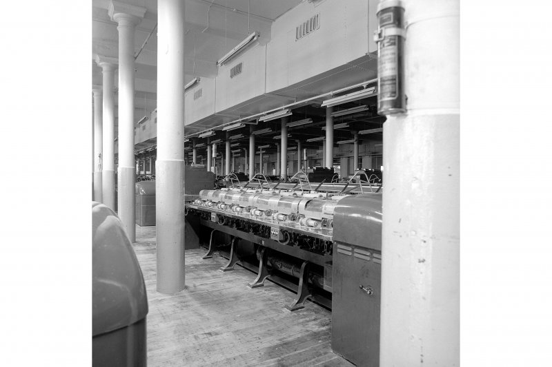Paisley, Ferguslie Thread Mills, Mill No.1, 1st Flat; Interior Looking SE on 1sr flat, view of drawing machines