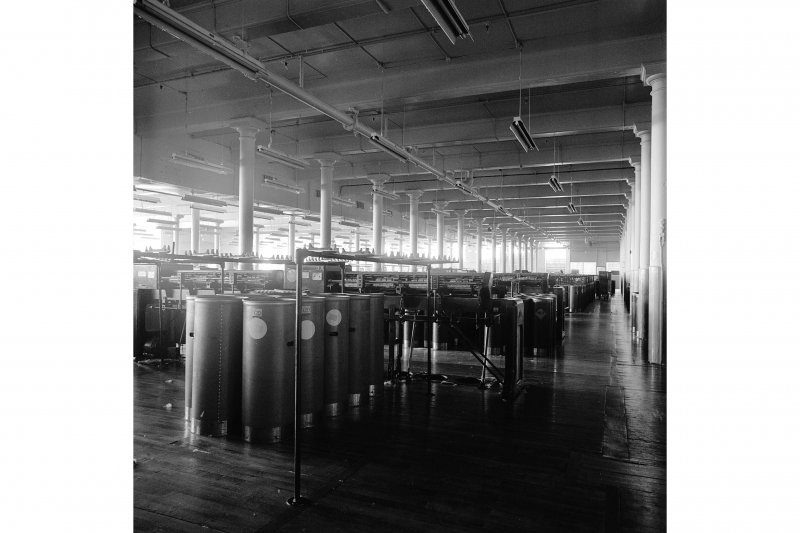 Paisley, Ferguslie Thread Mills, Mill No.1, 1st Flat; Interior Looking ESE along 1st Flat