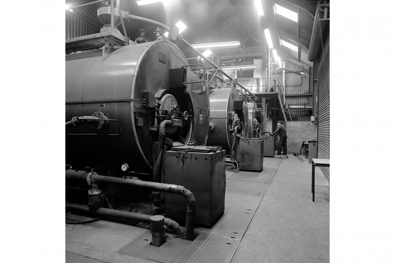 Paisley, Ferguslie Thread Mills, Mill No.1, Boiler House; Interior View of solid fuel boilers, built 1978