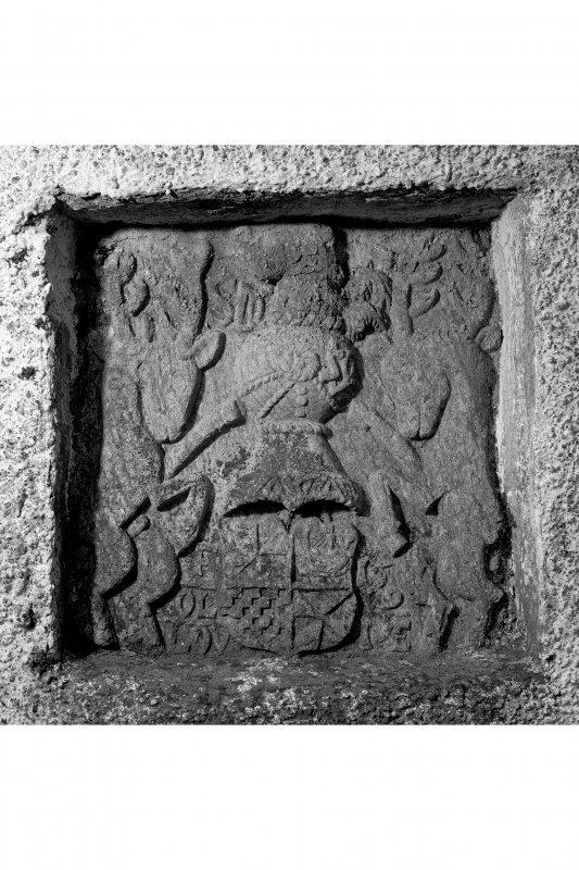 Barcaldine Castle Detail of armorial panel
