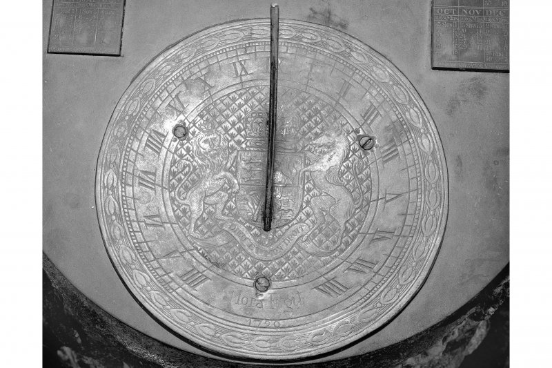 Barcaldine Castle Detail of sundial plate