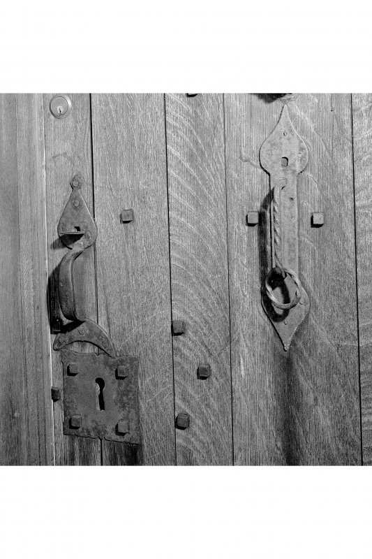 Barcaldine Castle Detail of door furniture