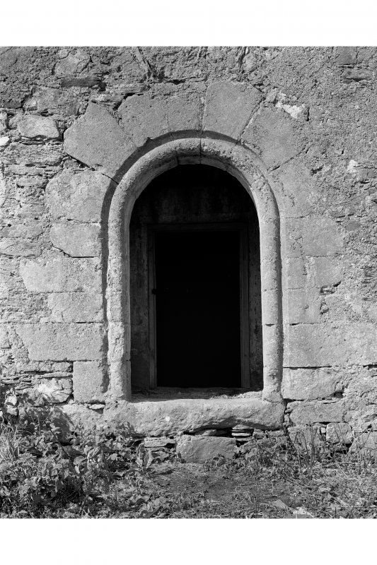 Castle Stalker. View of ground floor entrance doorway.