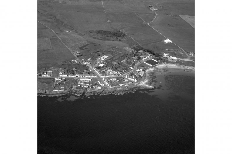 Port Charlotte, Islay. Aerial view from East.