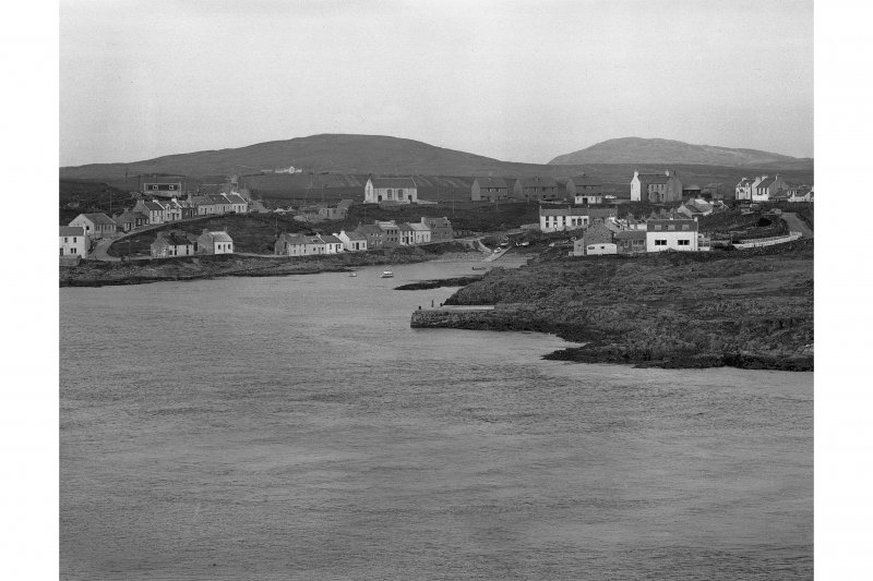 Portnahaven, Islay. General view of village from South West.