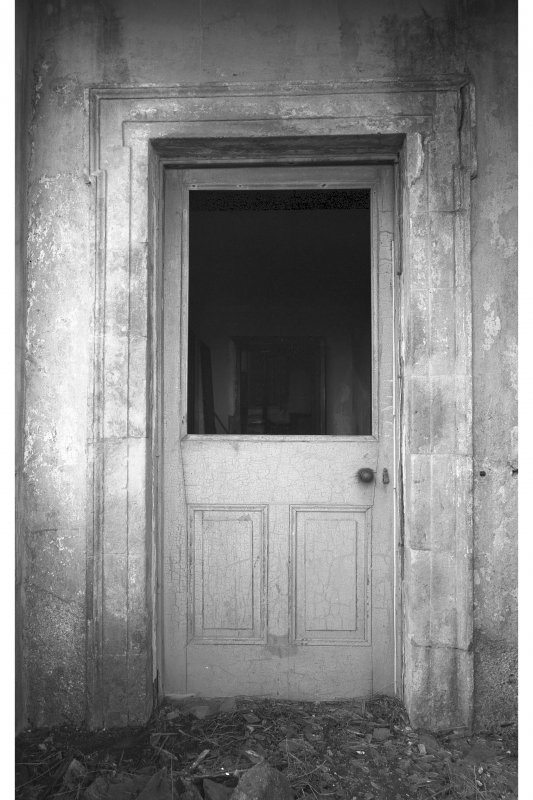 Coll, Breachacha House. View of entrance doorway.