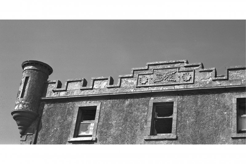 Coll, Breachacha House. Detail of parapet.