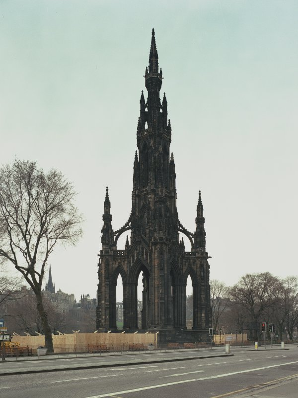 View of Scott Monument from north west