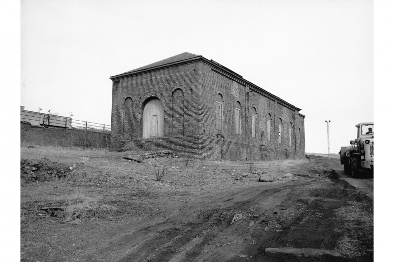 Dalmellington, Waterside Ironworks View from WSW showing W and S fronts of store (fan engine house)