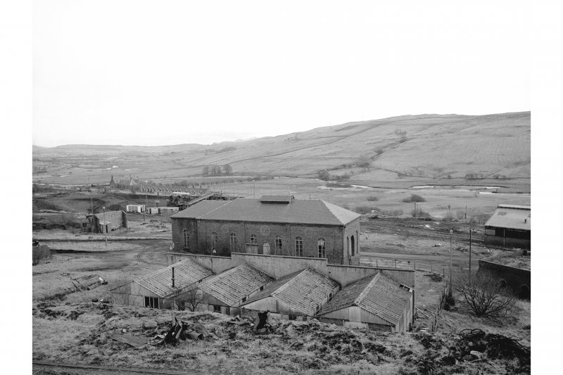 Dalmellington, Waterside Ironworks View from NNW showing N front of store
