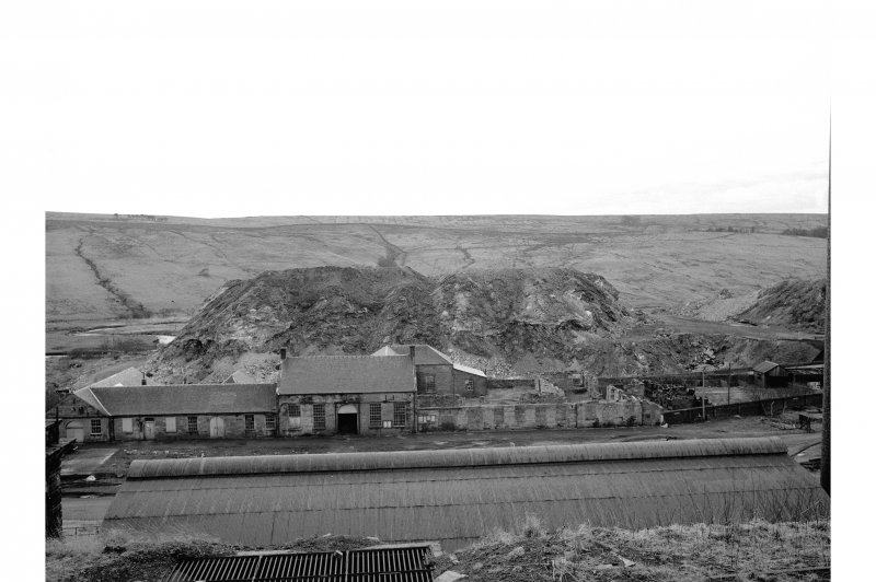 Dalmellington, Waterside Ironworks View from NE showing NE front of workshops