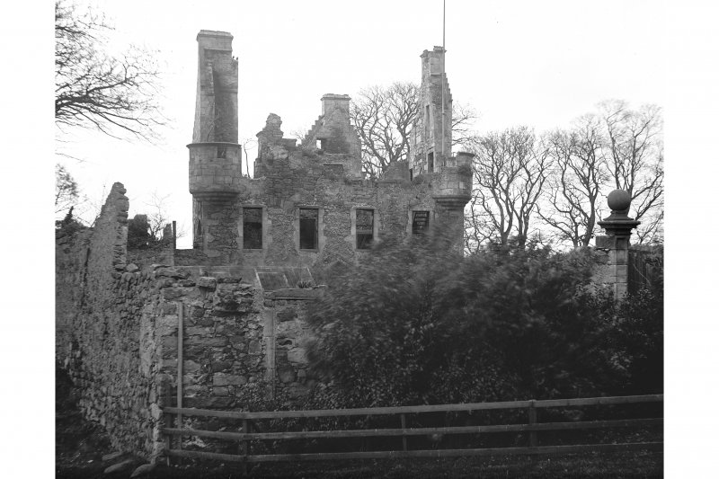 View of Granton Castle, south elevation