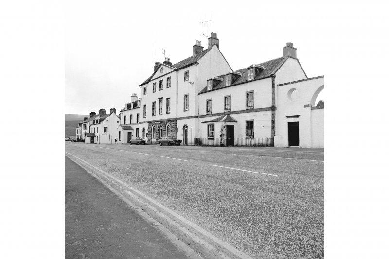 Inveraray, West Front Street, Town House View from NW showing NNE front of Town House and NNE front of house with Chamberlain's House in background