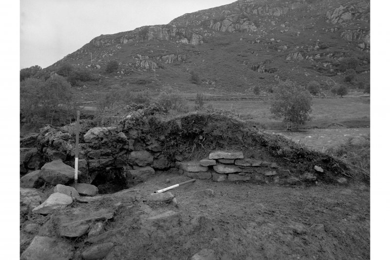 Red Smiddy Ironworks Excavation photograph showing tap arch