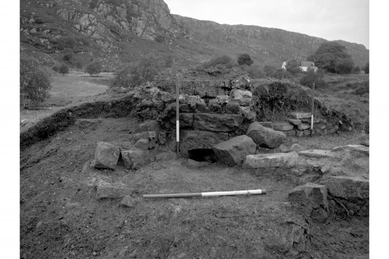 Red Smiddy Ironworks Excavation photograph showing blowing arch