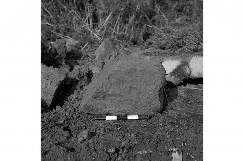 Red Smiddy Ironworks View of corbel stone recovered during excavation