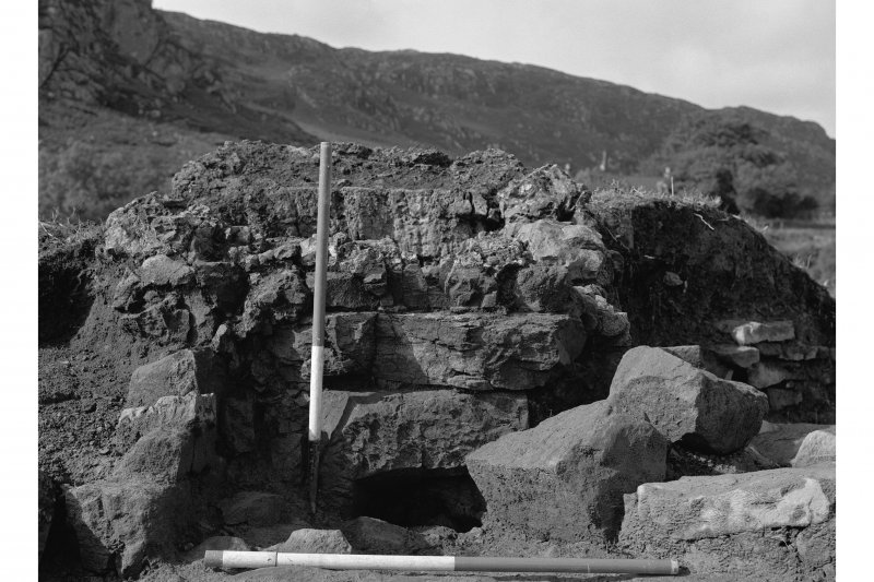 Red Smiddy Ironworks Excavation photograph; view of blowing arch