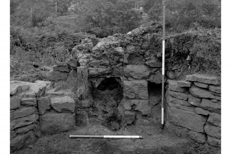 Red Smiddy Ironworks Excavation photograph; view of tap arch