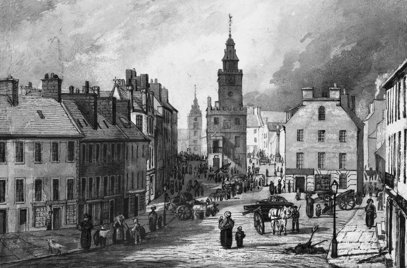 Dumfries, High Street. General view.
