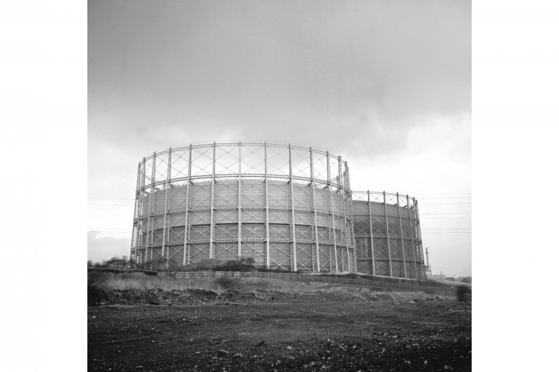 Glasgow, Provan Gasworks View from SW showing gasholders