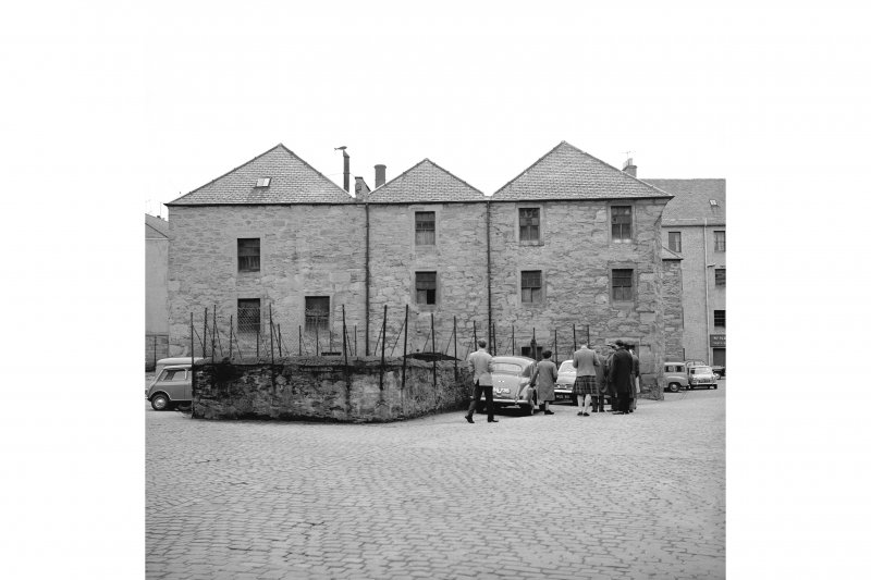 Perth, West Mill Street, City Mills and Granary View from WSW showing WSW front of lower city mills with Town's Lade in foreground