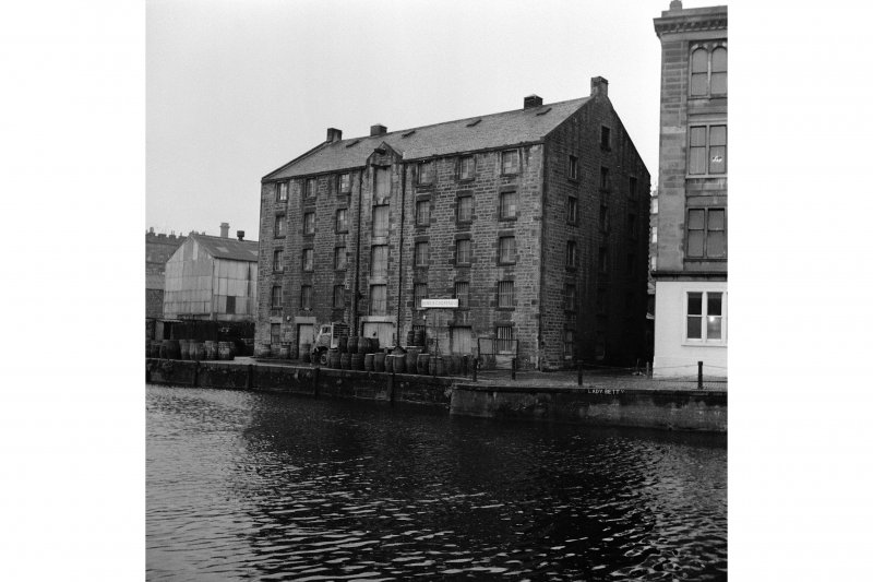 Edinburgh, Leith, Bonded Warehouse View from E across Leith Inner Harbour