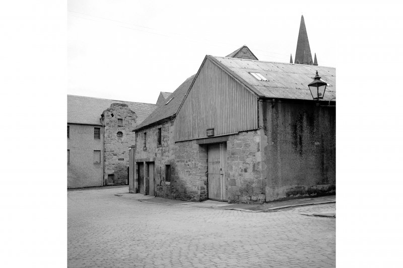 Perth, West Mill Street, City Mills and Granary View from NW showing NNE front of grain stores