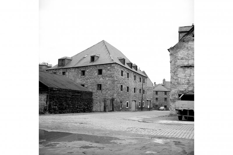Perth, West Mill Street, City Mills and Granary View from W showing SSW front and part of WNW front of upper city mills with part of lower city mills in distance