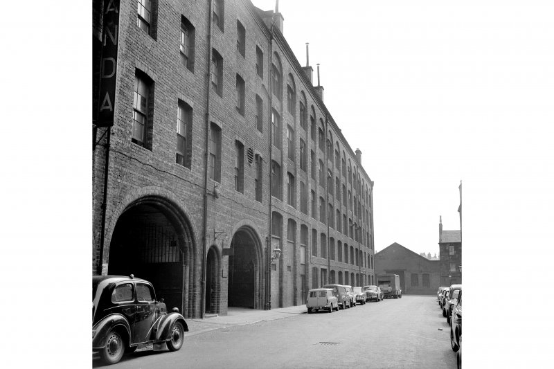 Glasgow, 30 Wesleyan Street, Victoria Bread and Biscuit Works View from N showing part of WNW front