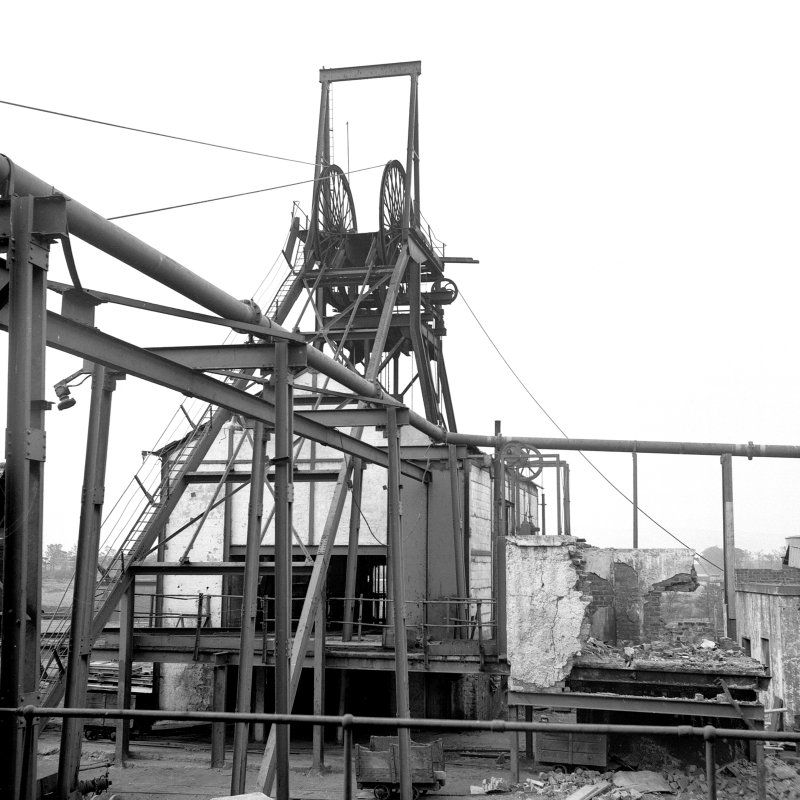 Cardowan Colliery View showing headgear