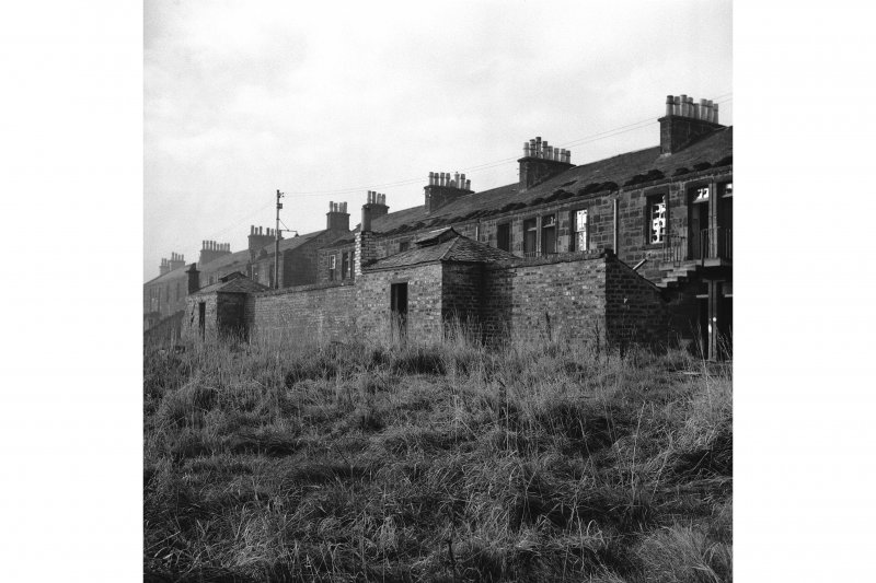 Kilmarnock Locomotive Works, Worker's Housing General view, privies and ashpits in foreground
