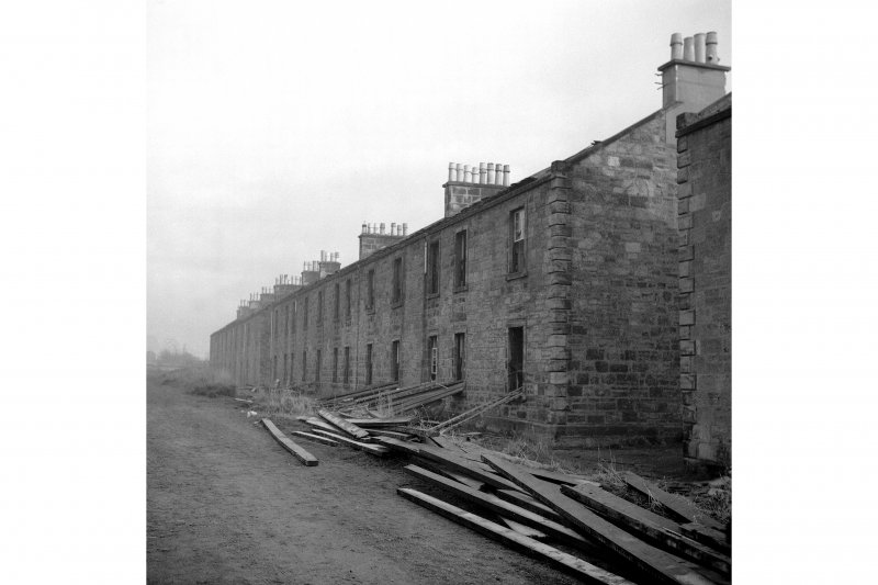 Kilmarnock Locomotive Works, Worker's Housing View of rear of row