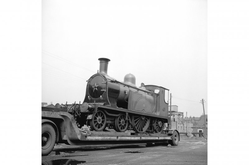 Glasgow, Govan Goods Yard View showing locomotive number 123 with water tower (possible) in background