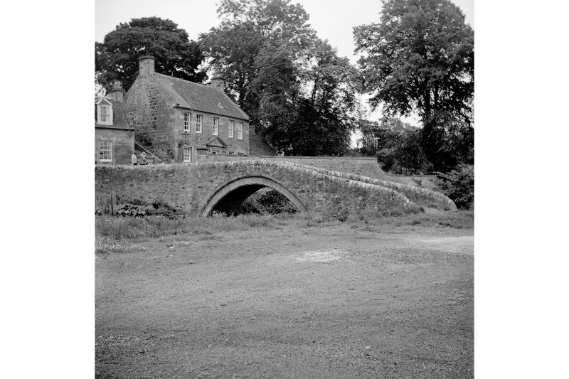 Ceres, Bishops Bridge View from NW showing N front of bridge with Masons Lodge in background