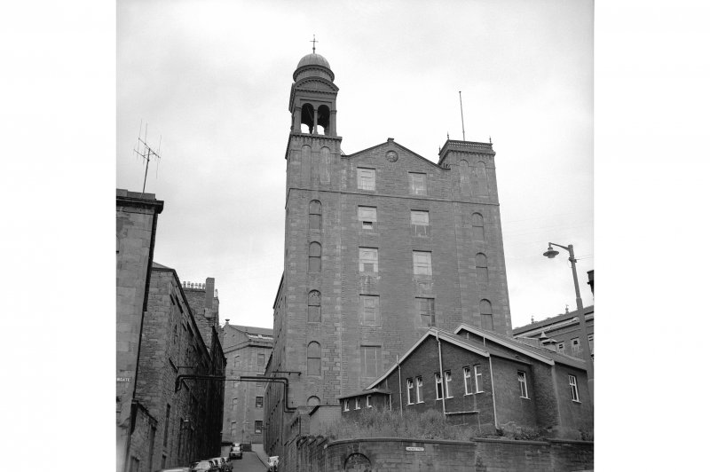 Dundee, Princes Street, Lower Dens Mills View from SSW showing S front of Bell mill