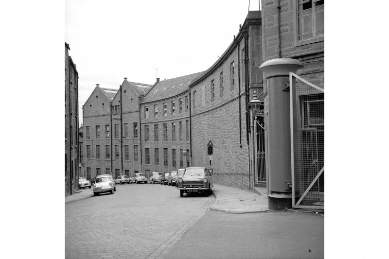 Dundee, Princes Street, Upper Dens Mills General view from NE showing Crescent Street front
