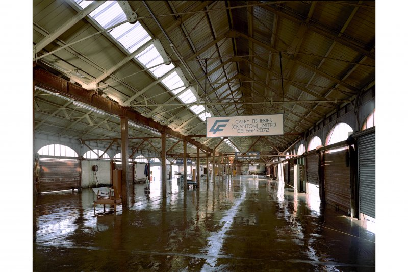 Edinburgh, Newhaven Fishmarket, interior. General view from South.