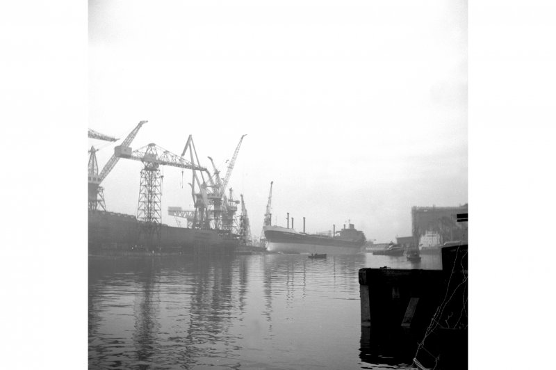 Glasgow, 1048 Govan Road, Fairfield Shipyard View of tanker 'Atlantic City' being launched
