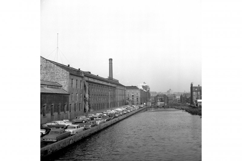 Edinburgh, Dundee Street, North British Rubber Company Works View over Union Canal basin
