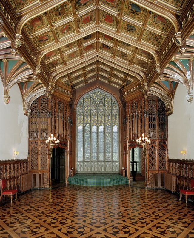 Taymouth Castle.  1st. floor, Banner hall, view from North.